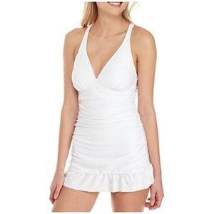 Crown & Ivy White Swim Dress Size Medium, NWT